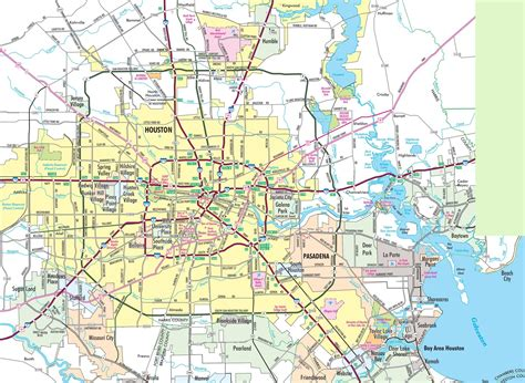 map of houston houston area road map