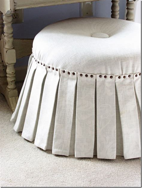 no sew ottoman slipcover how to make a no sew ottoman part 2 in my own style