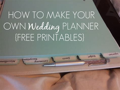 free printable wedding planner binder sleepless in diy bride country how to make your own
