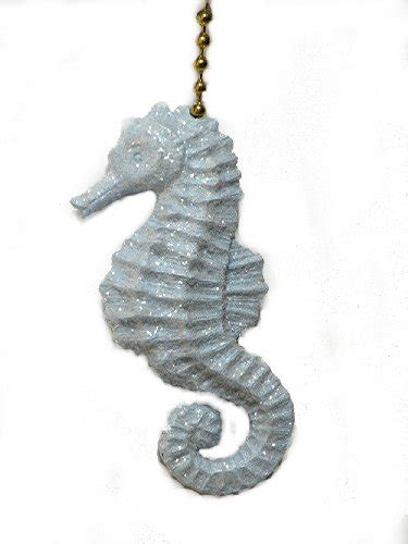 ceiling fan pull chain ornaments sparkling light blue seahorse ceiling fan pull chain