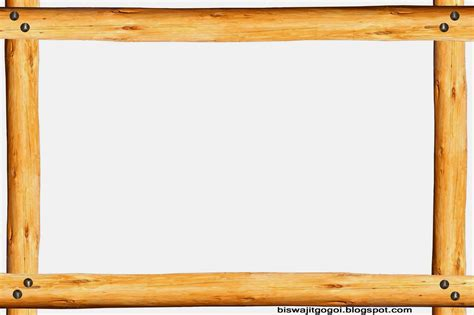 Wood Border Clipart graphics and folk assam wood and metal frame
