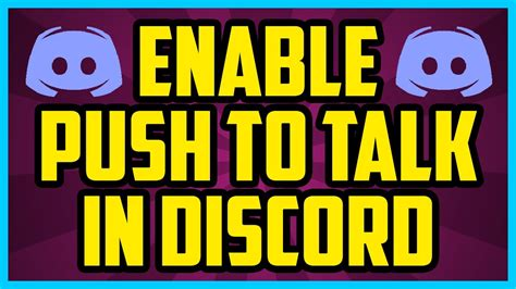 discord quick delete how to enable push to talk on discord 2017 quick easy