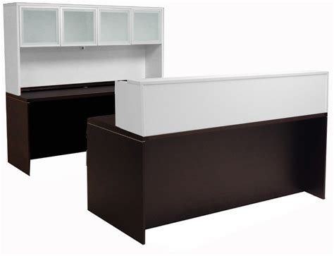 U Shaped Reception Desk Mocha White Structures Reception Station