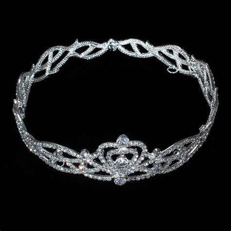 Pc0502 Circle Silver Tiara Crown New Arrival Luxury Silver Shape Austrian