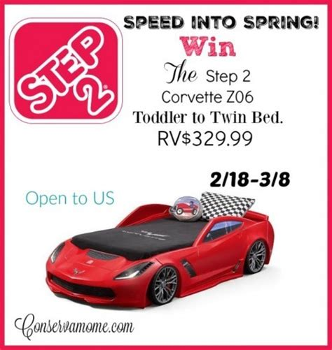 step2 corvette bed step2 corvette z06 toddler to twin bed giveaway