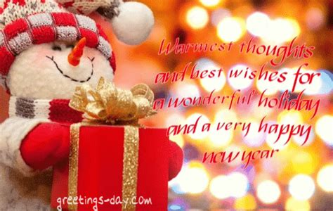 warmest thoughts   wishes   wonderful holiday    happy  year pictures