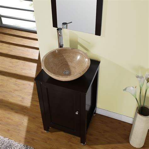 shop silkroad exclusive modern bathroom stone vessel vanity lavatory single sink cabinet