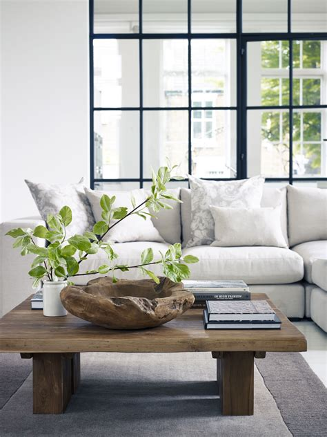 clean organic natural living room inspired