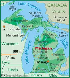 Michigan In World Map by Weather Mi