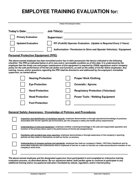 effectiveness evaluation form template effectiveness evaluation form template images