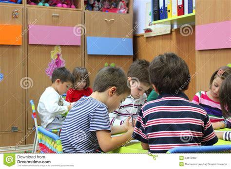 activities kindergarten class preschoolers to kindergarten editorial photography image