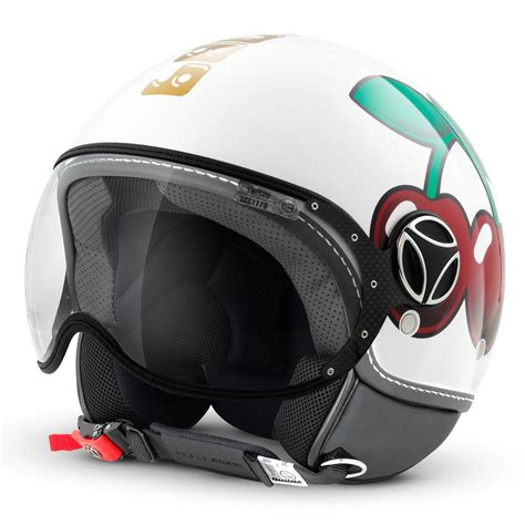 momo design helm visier 00900160 demi jet helmet momo design fighter pacha white