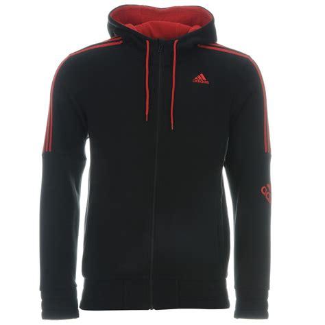 Switer Sweater Jaket Sweatshirt Realmadrid adidas 3 stripe logo zip hoody mens black