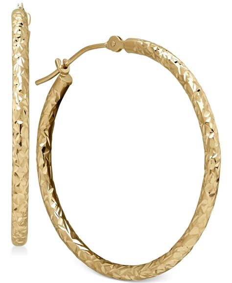 macy s hoop earrings in 10k gold in multicolor