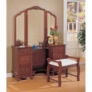 Ebay Bedroom Vanity Sets Coaster Traditional Wood Makeup Vanity Table Set W Mirror