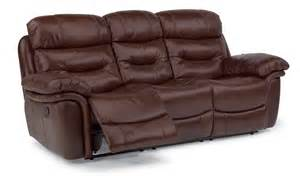 flexsteel leather reclining sofa flexsteel living room leather power reclining sofa 1285