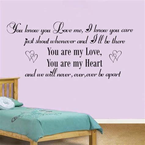 bedroom walls lyrics baby song lyrics vinyl wall art sticker decal girls by wallartuk