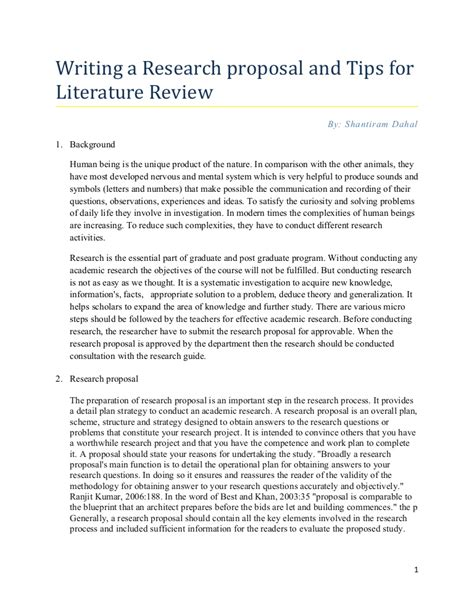format of research proposal writing research proposal tips for writing literature review by