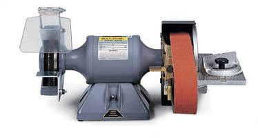 bench grinder belt sander conversion belt sander grinder provides motor speed of 3 600 rpm