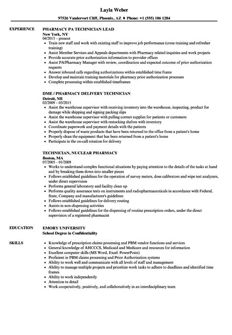 Iv Pharmacy Technician Resume by Iv Home Infusion Pharmacy Technician Ftempo