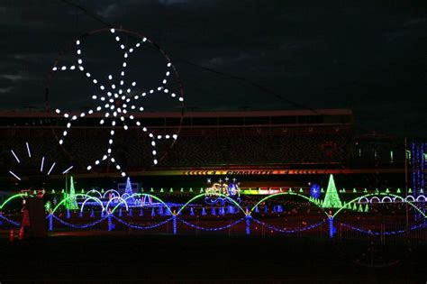 charlotte speedway christmas lights 2017 speedway christmas holiday week includes infield village