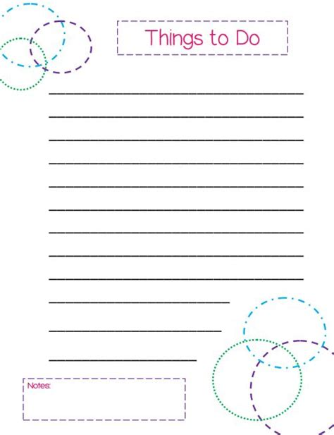 things to do planner template things to do list a colorful circles themed template