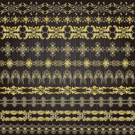 gold lace pattern gold lace pattern 01 vector material download free