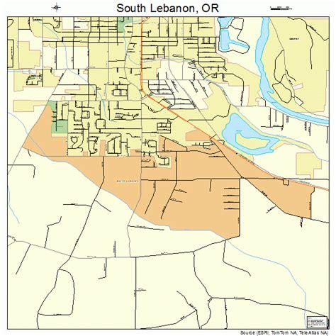 map of lebanon oregon south lebanon oregon map 4168875
