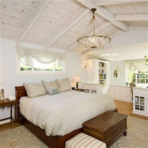 Cottage Bedroom Vaulted Ceiling Wood Ceiling Design Ideas Pictures Remodel And Decor