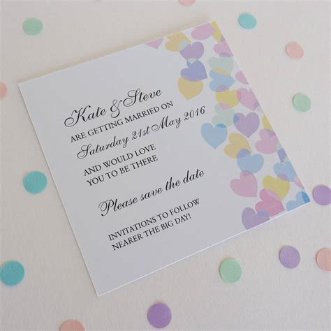 Personalised Wedding Stationery by Paper Hearts Personalised Wedding Stationery By