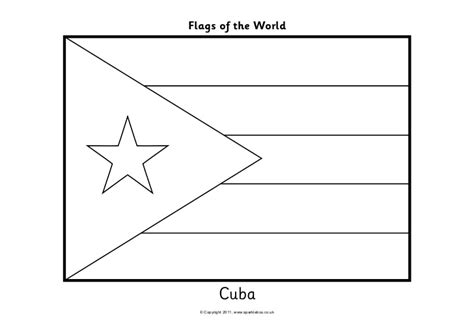 Cuba Flag Black And White Www Imgkid Com The Image Kid Cuban Flag Coloring Page
