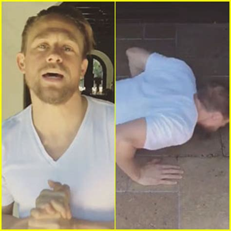 charlie hunnam does 22 push up challenge 8 times so far