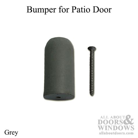 Pella Patio Door Parts Bumper 2 Inch Pella Patio Door Gray