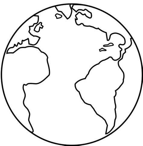earth template clipart best