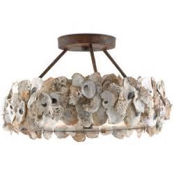 oyster chandelier rustic oyster chandelier coastal