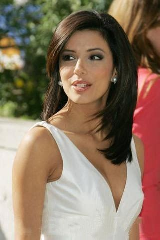 eva longoria hairstyles 2015 eva longoria with sexy white dress and medium straight dos