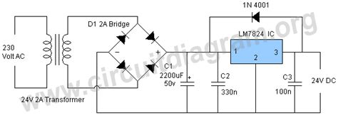 24v 5a power supply circuit diagram gt circuits gt 24v dc power supply using lm7824 l35775 next gr