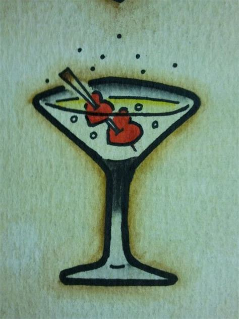 martini tattoo flash s martini glass by bass slinger