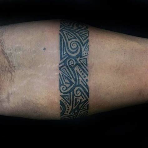 50 forearm band tattoos for men masculine design ideas 25 best ideas about forearm band tattoos on pinterest
