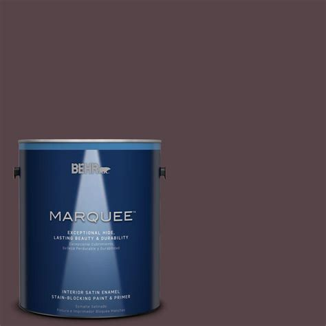 behr marquee 1 gal hdc fl14 9 black raspberry satin enamel interior paint 745301 the home depot