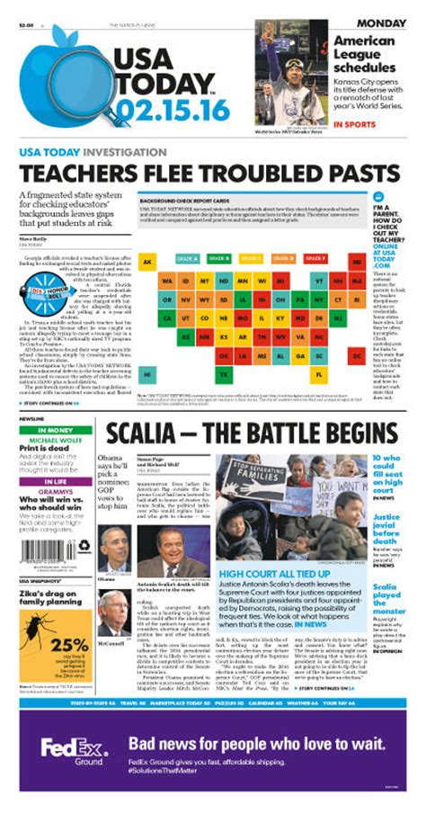 usa today crossword issues usa today previous issues 2016 usat february 2016