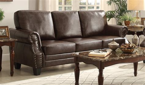 homelegance bertrand sofa brown 8408 3