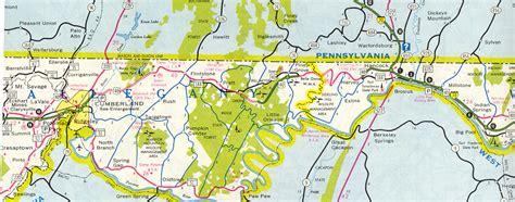 map us route 40 u s route 40 alternate keysers ridge cumberland maryland