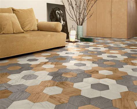 hexagonal parquet wood floor tiles  edward van vliet