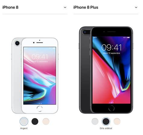 iphone 8 8 plus sp 233 cifications et diff 233 rences avec l iphone 7 7 plus