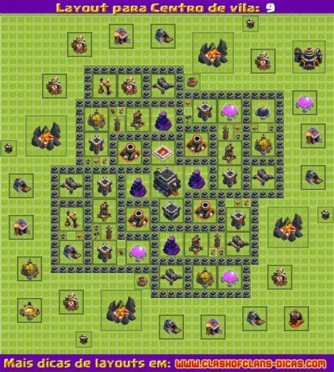 clash of clans layout free download clash of clans layout de defesa para centro de vila 7 page
