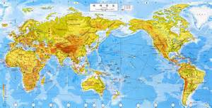Pacific Centered World Map by A Pacific Centered World Map Korean South Korea