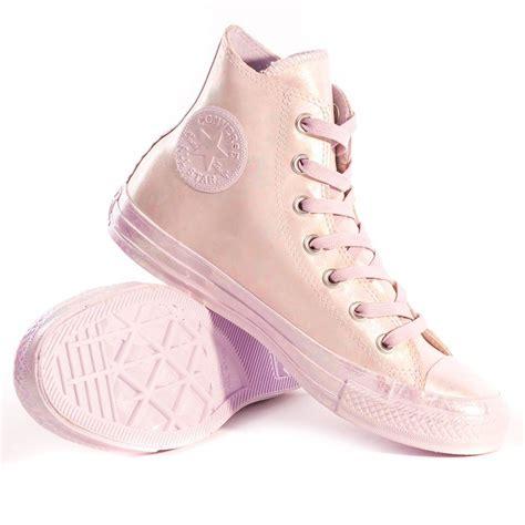 Convers Rubber Pink converse chuck all iridescent rubber womens
