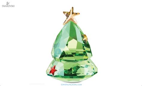 swarovski rocking christmas tree green
