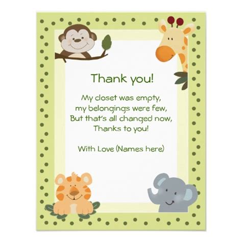 Thank You Card Wording For Baby Shower Gift - baby shower thank you cards wording ideas and sles baby shower invitations